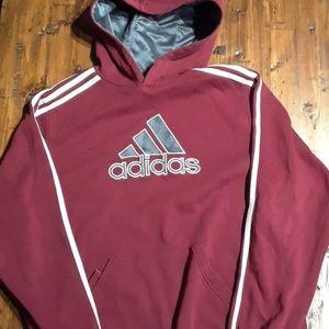 Adidas Hoodie Maroon XL